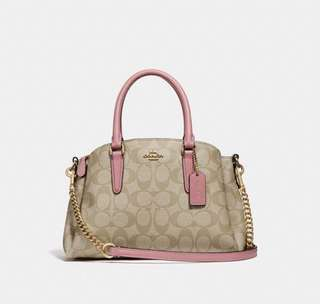 Coach US orig signature coated canvas with smooth leather details