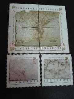 Singapore Stamps Old Maps 1988