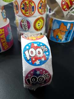 [INSTOCK] BN Roll of 100% Reward/Merit Stickers (Oriental Trading)