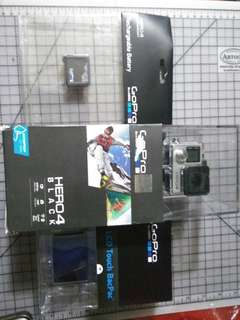 GoPro 4 Black with LCD & spare battery