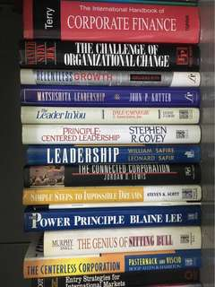 Finance/Leadership/Corporate/Marketing/Management books