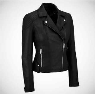 {65% OFF CLEARANCE} {BNWT} Black Leather Jacket