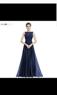 Evening Gown, Gorgeous Formal Round Neck Lace