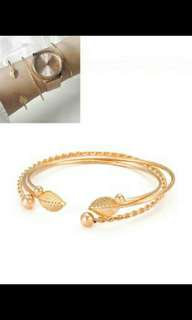 Bangle leaf shape 3pcs