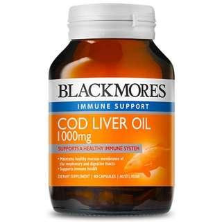 Blackmores Cod Liver Oil 1000mg (80 caps)