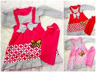 Girl Moslem Clothes Golden Butterfly