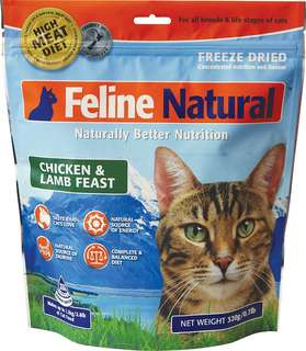Feline Natural Freeze Dried Chicken & Lamb 320g