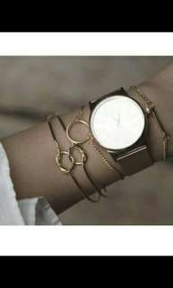 Bangle minimalist pure color