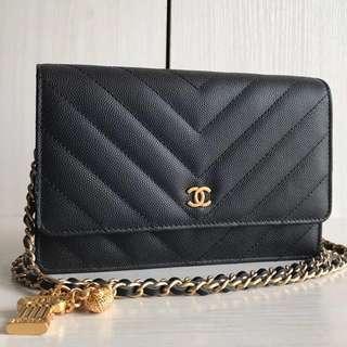 Chanel Chevron Wallet On Chain
