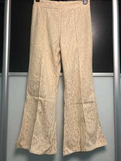 Lace Pant - beige/nude
