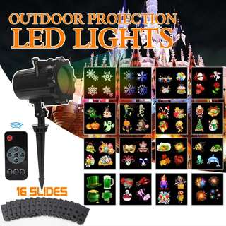 182. Christmas Slide Show Lights Projector Outdoor Led with Remote Decoration for Holiday Halloween Party Garden