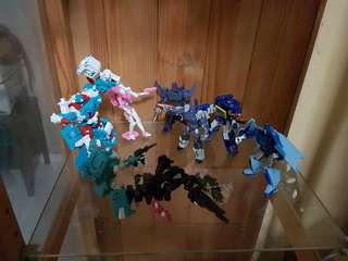 Transformers dx9 ultra Magnus kup arcee galvatron cyclonus scourge Soundwave ratbat ravage. PM for individual prices. Whole set at $300