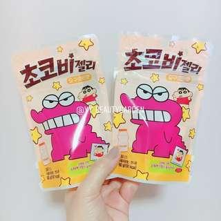 韓國7-11 蠟筆小新星星啫喱糖 乳酪口味 內附貼紙