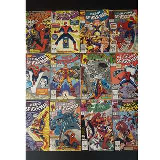 Spiderman: Acts Of Vengence Crossovers (1989,1st Series) Complete Set of 12 Books. At Long Last, Spidey Goes Cosmic!!