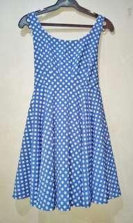 Polka dot Low back Dress