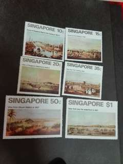 Singapore Stamps Early Paintings of Singapore 1971