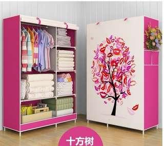Lemari pakaian Multifungsi portable wardrobe cover Pohon