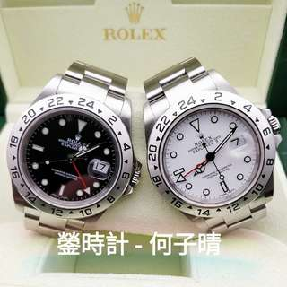 Rolex 16570 黑白一對 實心耳密孔 有出世紙 95%極新