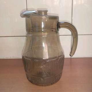 法國 arcopal 早期琥珀色玻璃 茶壺 / 水壺