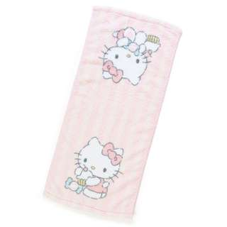 Japan Sanrio Hello Kitty Fluffy Face Towel (Stripe)