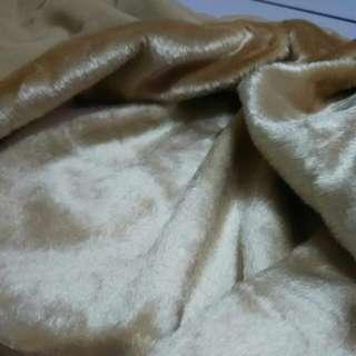 Khaki Fur imported Fabric