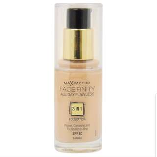 🚚 Max factor #60 facefinity 3 in 1 foundation sand