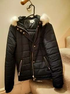 Seed Navy Puffer Jacket size 8