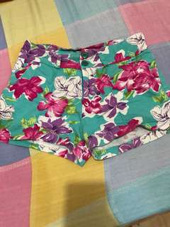 Floral Blue green shorts