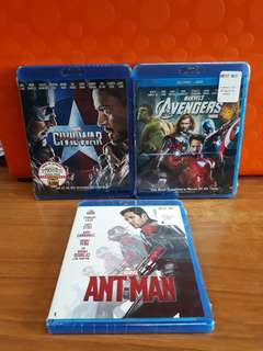 USA Blu Ray - Ant Man / Avengers / Civil War (choose 2 for $50)