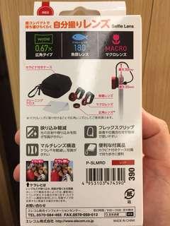 日本Elecom Selfie lens 手提電話 手機 魚眼鏡頭 廣角鏡頭