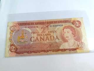1974年 CANADA $2