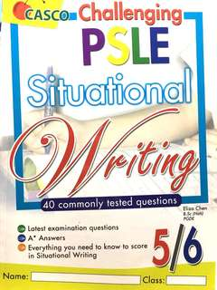 p5/6 challenging psle situational writing english assessment book