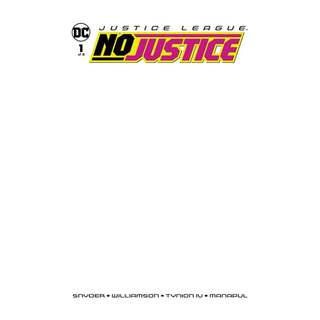 Justice League : No Justice #1 Blank Cover