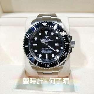 Rolex 116660 DEEPSEA 藍光 全套齊 93%極新淨