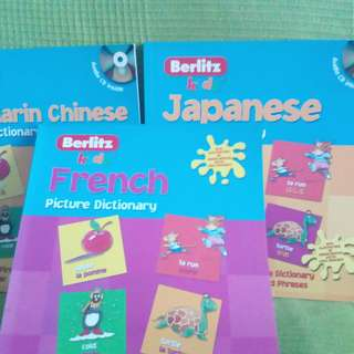 French Mandarin Japanese Kids Picture Dictionary