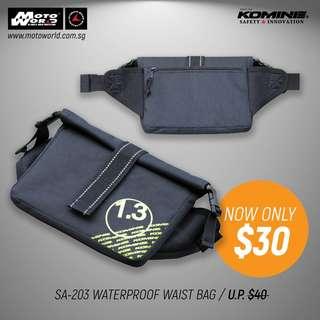 Komine SA-203 Waterproof Waist Bag