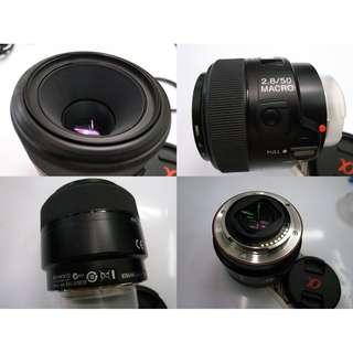 Sony α SAL50M28/AE 50mm f/2.8 Macro Prime Lens Rm1120