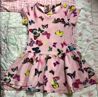 (#11)Butterfly Printed Dress
