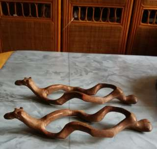 Resting Camel, 1 pair (HandCrafted from Teak Wood Without Joints) frm Pakistan
