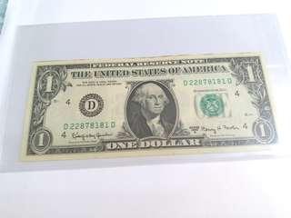 1969年美金壹圆(UNC)