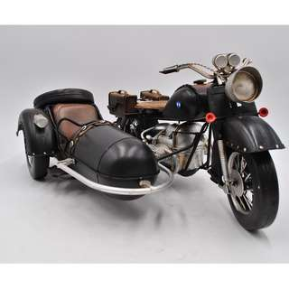 Replica Vintage 1930 US Army BMW R71 Motorcycle with Sidecar 1:12 scale model
