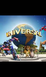 Universal studio Singapore (2 adults ticket 9th Jun)