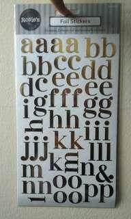 Rosie's Studio Alphabet Foil Sticker