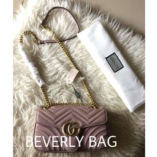 READY jual tas Gucci GG Marmont MIRROR QUALITY - nude