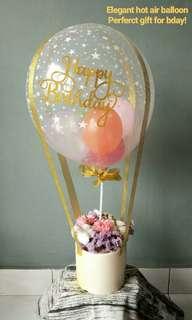 Hot Air Balloon Birthday Series (Artificial flower & cotton flower)
