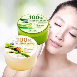 3W Clinic 100% Snail Mucus Soothing Gel 300g