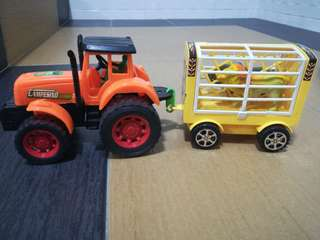 animal cage truck.with two animal .openable cage