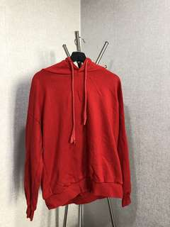 Red oversized hoodie (Made in Korea!)
