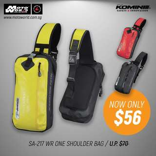 Komine SA-217 One Shoulder Bag WR