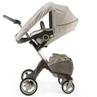 Stokke with Summer Kit Xplory Stroller and Carrycot